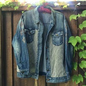 Forever 21 Boho Oversized Jean Jacket